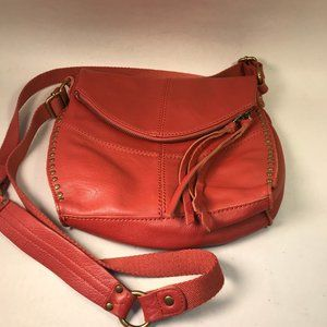 The Sak Red SalmonCross Body Purse Pebbled Leather